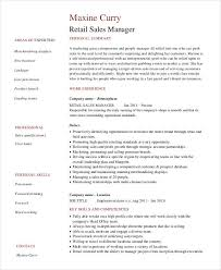 resume for retail sales manager sle retail sales resume 10 free sles exles format