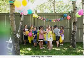 backyard birthday party ideas luxury design backyard birthday party kids stock photos at image