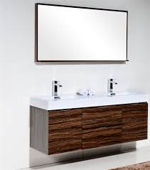 Wall Mount Vanity Sink Bathroom White Single Sink Vanity Simple Walnut Wall Mounted