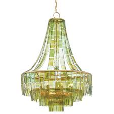 Gold Leaf Chandelier Currey And Company 9000 0147 Vintner 7 Light Contemporary