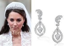 bridal clip on earrings buy kate middleton wedding earrings clip bridal earrrings