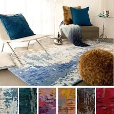 Area Rugs 4 X 6 Isaac Mizrahi By Safavieh Porcelain Flower Ivory Blue Wool Rug 4