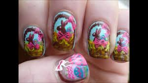 cute multicolored easter nail art
