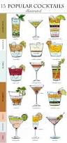 15 popular cocktails illustrated from the blush blonde friday