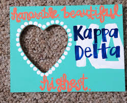 Sorority Picture Frame Kappa Delta Crafting Space Place U0026 Southern Grace