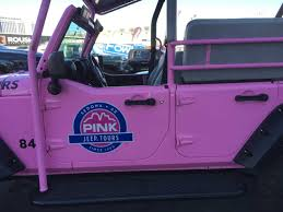 pink jeep lifted pink jeep tours wrangler quadratec