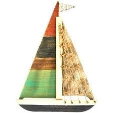 wooden boat wall wooden sailboat wall decor medium size of sailing wall wooden