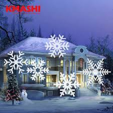 kmashi 16 pattern slides sparkling laser light show rotating