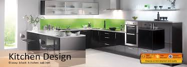 black gloss kitchen ideas modern kitchen cabinet acrylic cabinet kitchen design