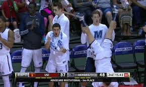 basketball bench celebrations monmouth s bench celebrations are the best in the country for