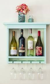 handmade wall mount wine glass rack is made of one solid piece of