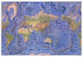 map world oceans world floor map