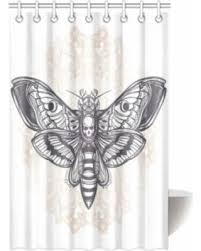 bargains on mypop skulls decorations shower curtain dead moth with
