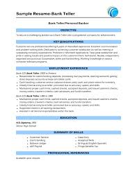 How To Build A Resume With No Experience How To Write A Resume For A Bank Teller Position Resume Peppapp