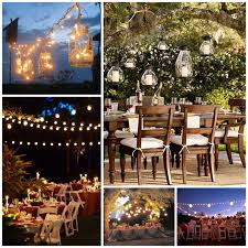 Backyard Wedding Lighting Ideas Triyae Com U003d Rustic Backyard Wedding Reception Ideas Various