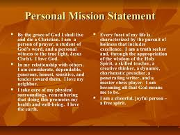 Mission Statement Examples For Resume by Personal Mission Statement On Resume