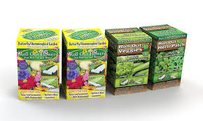 roll out flower garden 4 pack roll out garden kit groupon goods