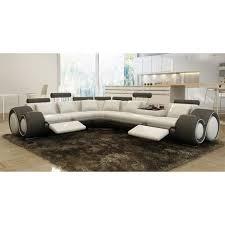 canapé d angle en cuir gris canapé d angle design cuir blanc et gris rela achat vente canapé