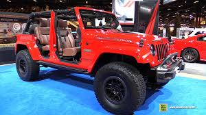 red jeep wrangler unlimited 2016 jeep wrangler unlimited red rock by mopar exterior and