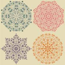 coloured ornaments design vector free