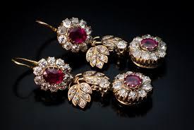 earrings for sale antique ruby diamond dangle earrings gemstone cluster earrings