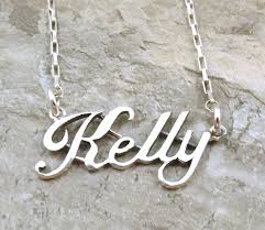 ebay name necklace images Sterling silver name necklace kelly on sterling silver drawn jpg