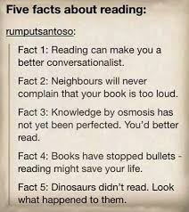 five facts about reading books books more books