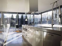stainless steel commercial kitchen cabinets glass material glass