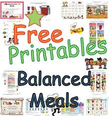food groups and balanaced meal learning sheets