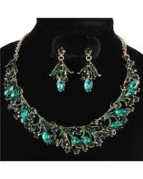 green necklace set images Jewel vine necklace set green jadazzles jpg