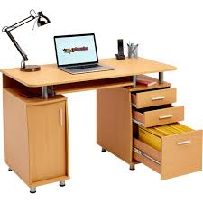 Beech Computer Desk by Computer Desk With Storage U0026 A4 Filing Drawer Home Office