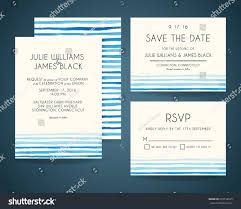 Invitation Card With Rsvp Vector Set Wedding Invitation Cards Watercolor Stock Vector