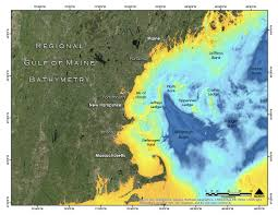 New England Coast Map by Wgom Bathymetry And Backscatter The Center For Coastal And Ocean