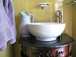 vintage bathroom vanity vessel sink trendy design vessel