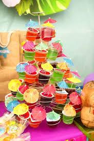 hawaiian luau party hawaiian luau birthday party ideas mini umbrella cupcake stands
