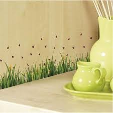 homeshop18 home decor home decor line ladybugs with grass wall stickers wall decals