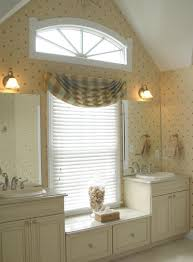 furniture home bathroom curvy window treatment ideas for