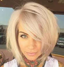 sliced layered chin lengt bob with bangs 37 cute medium haircuts to fuel your imagination