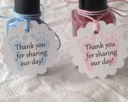 personalized mani thanks tags heart nail polish tags