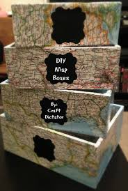 Decoupage Box Ideas - diy map boxes craft dictator