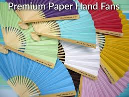 custom paper fans personalized premium paper fans w side handle print 10 pack