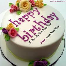 the birthday cake write his or name on birthday cake wishes greeting card
