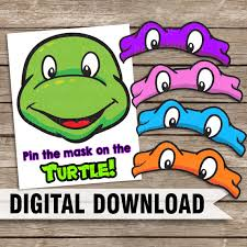 teenage mutant ninja turtle tmnt themed pin mask