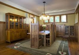 frank lloyd wright craftsman dining room craftsman with chandelier