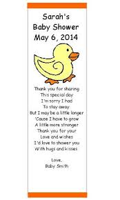 Baby Shower Favor Messages - 74 best baby shower images on pinterest baby shower thank you