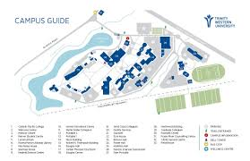 Pacific University Campus Map Fields Trinity Western University