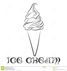 vanilla ice cream cone design template stock vector image 68431839