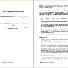 consulting agreements free agreement templates