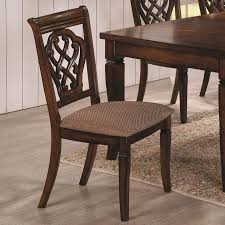 coaster dining 10339 upholstered dining chair with decorative seat