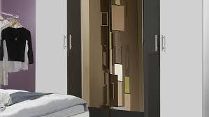 Schlafzimmer Anthrazit Nora In Weiß Und Anthrazit Doppelbett Kleiderschrank